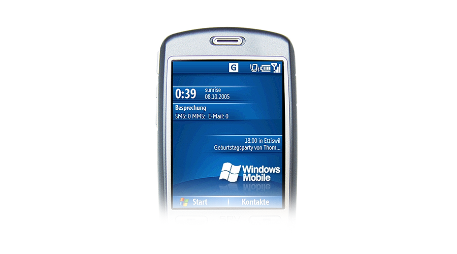 Windows Mobile Homescreen