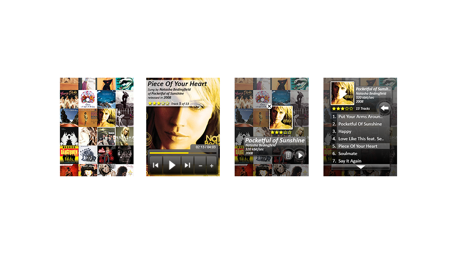 Complete new GUI for Windows Mobile Media Player