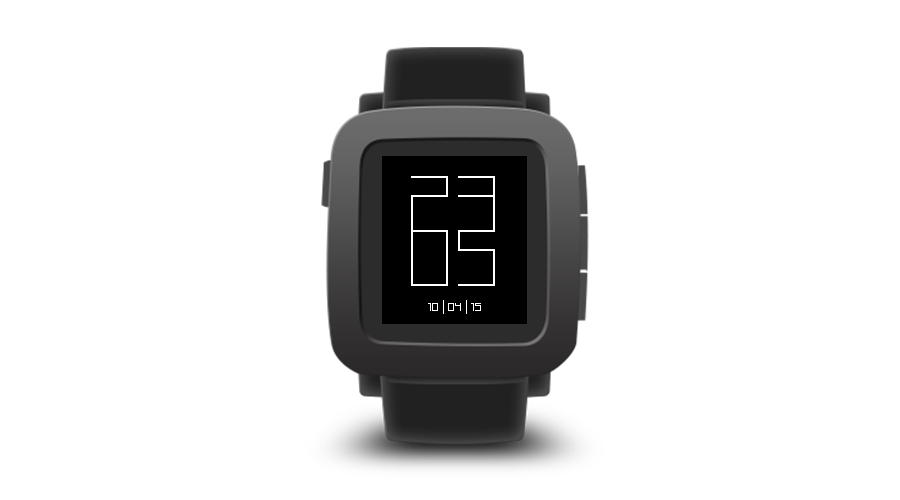 "Pebble Time Watchface ""Lines"""