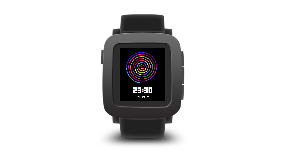 "Pebble Time Watchface ""Circle Lines"""