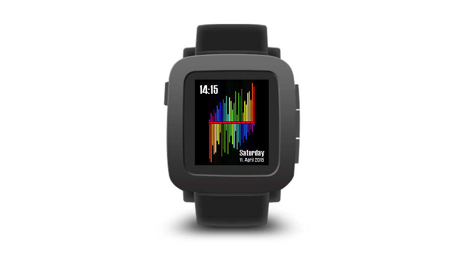 "Pebble Time Watchface ""Equalizer"""