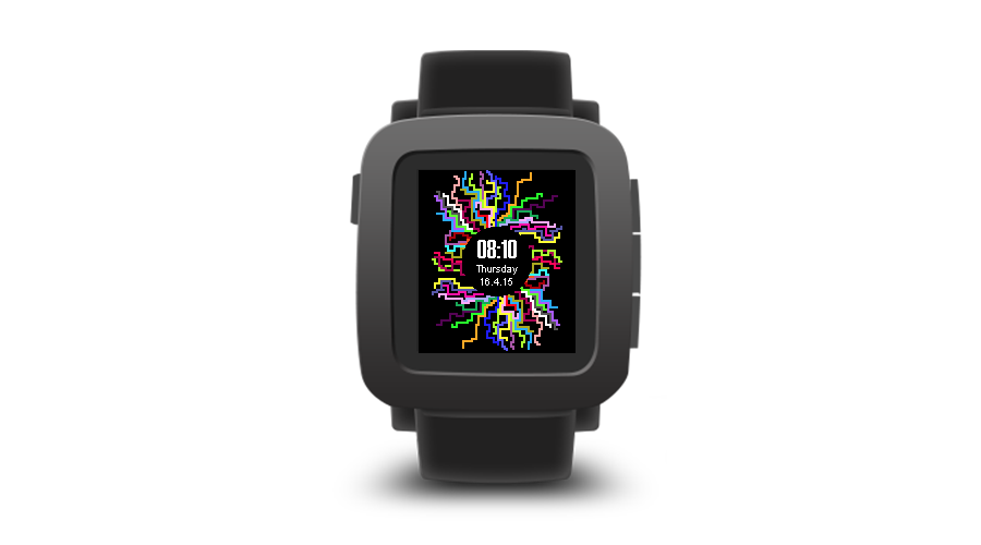 "Pebble Time Watchface ""Tree of Colours"""