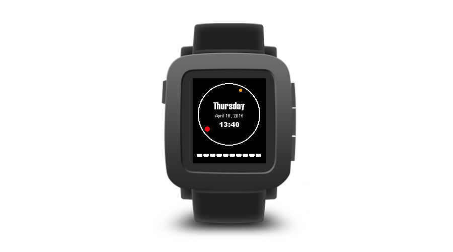 "Pebble Time Watchface ""Simplified Analogue"""