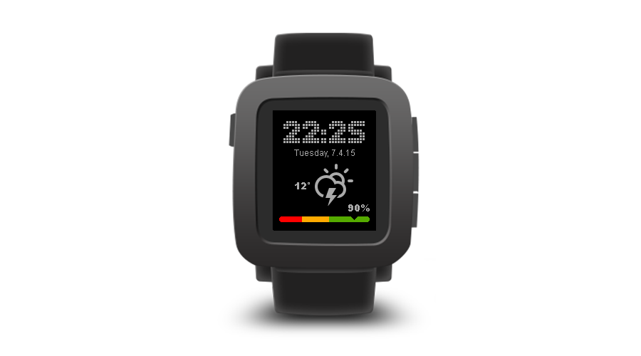 "Pebble Time Watchface ""TimeDock"""