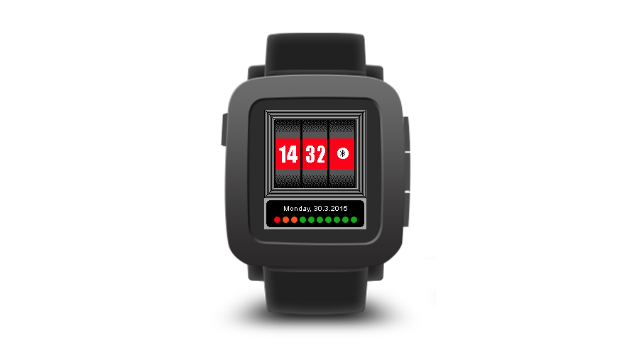 "Pebble Time Watchface ""SlotMachine"""