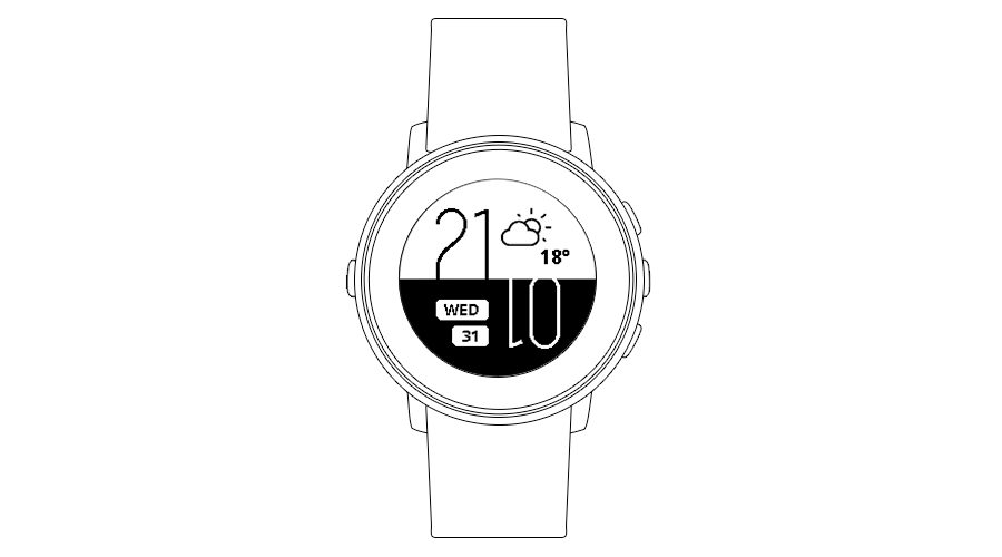 "Pebble Time Watchface ""Upside Down"""