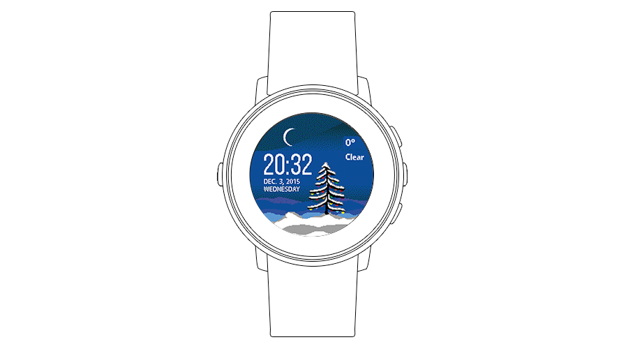 "Pebble Time Watchface ""Holidays"""