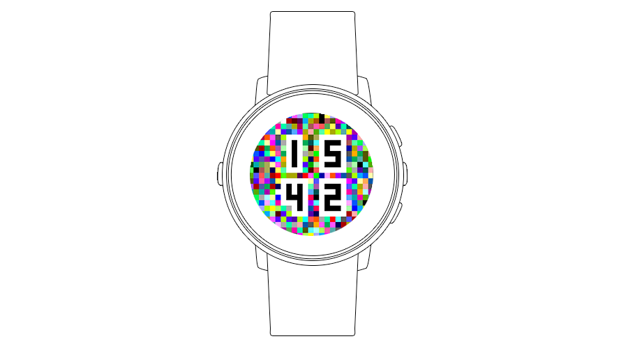 "Pebble Time Watchface ""Mosaic V2"""