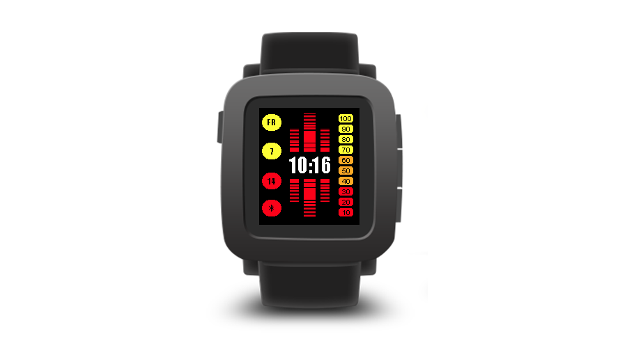 "Pebble Time Watchface ""KnightRider"""