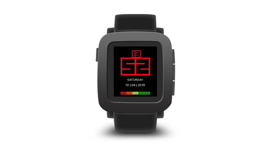 "Pebble Time Watchface ""Chunky"""