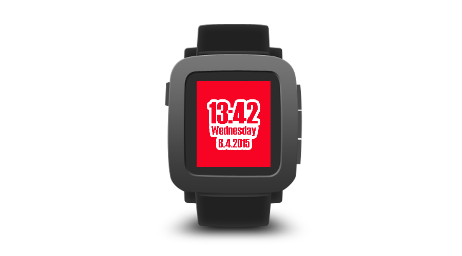 "Pebble Time Watchface ""Cloudy"""